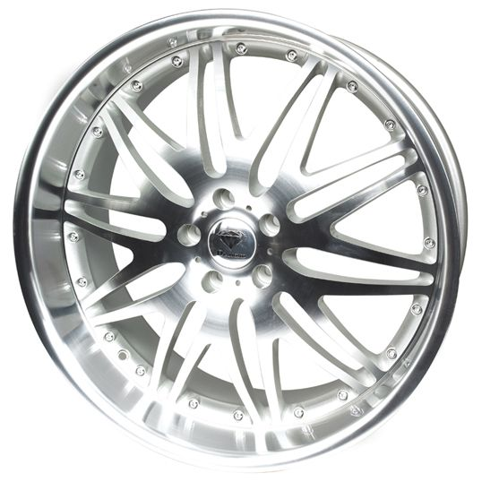 DIAMOND RAPTOR SILVER alloy wheels with stunning look for 5 studd wheels in SILVER finish with 19 inch rim size
