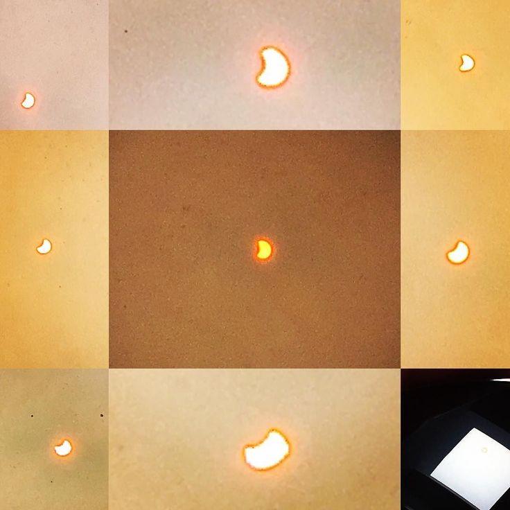 #EclipseSolar 21/08/2017. En EUA fue total aquí en #Aguascalientes parcial Las #fotografías fueron tomadas con el #iPhone6s aprovechando un domo como pantalla de retroproyeccion y los lentes polarizados para eliminar reflejos (mexican style).