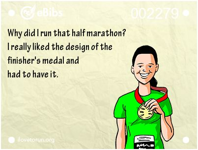 """""""Why did I run that half #marathon? I really liked the design of the finisher's…"""