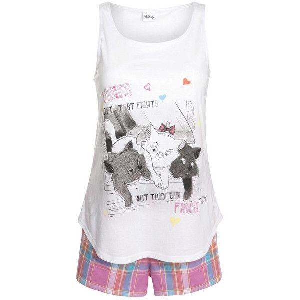 Disney Aristocats Shorts Pyjamas ($19) ❤ liked on Polyvore featuring intimates, sleepwear, pajamas, sleep, disney, pijamas, disney sleepwear, disney pjs and disney pajamas