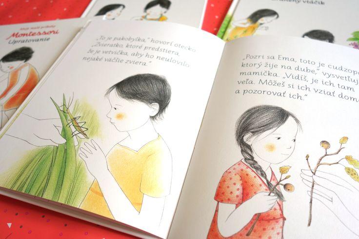 Balíček Montessori príbehov 4 za cenu 3. Jednoduché príbehy založené na princípoch Montessori výchovy, ktoré deťom pomôžu spoznávať a objavovať svet. #balicek #knih#montessori #pribehy #deti #prechadzka #olovrant#upratovanie #zranenyvtacik