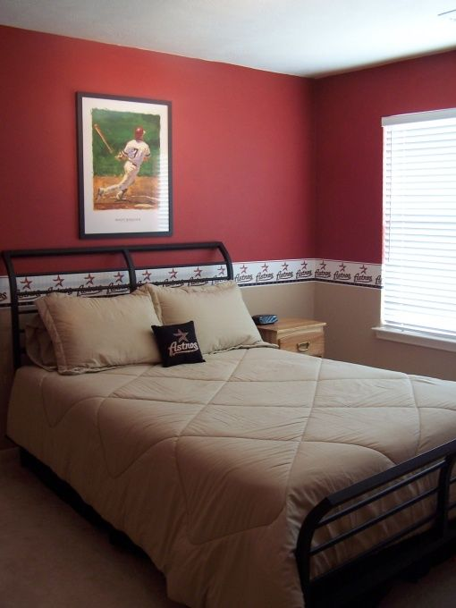 boys baseball bedroom decorating baseball and craig biggio from the houston astros boys. Black Bedroom Furniture Sets. Home Design Ideas