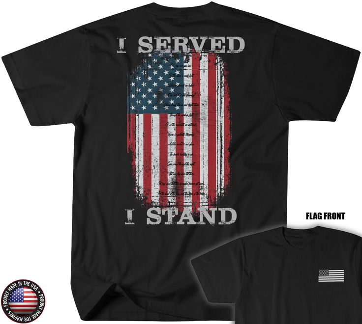 Leatherneck for Life - FLAG FRONT- I Served - I Stand T-Shirt , $21.95 (http://www.leatherneckforlife.com/flag-front-i-served-i-stand-t-shirt/)