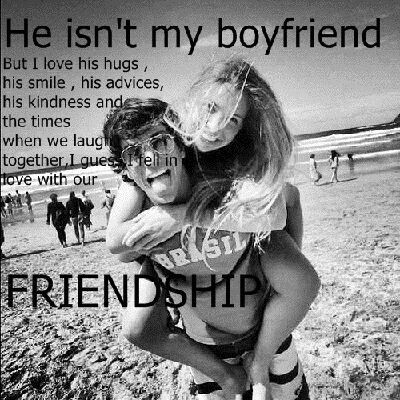 girls can have a special guy friend without it turning into something else, I just wish other people knew that!