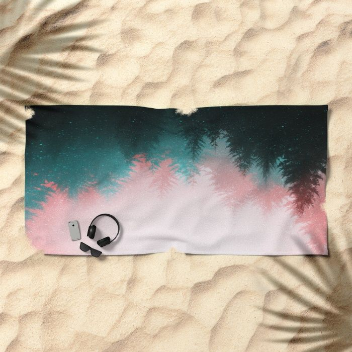 Explore the Night Beach Towel by REALITY Studios   Society6