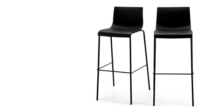 Paar Piloti barkrukken in zwart | made.com