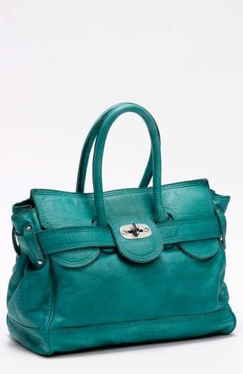 """i adore the color of this liebeskind """"gloria"""" satchel! i have a bag a little darker than this and it looks fantastic with a pale pink or yellow top."""