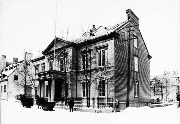 L'ancien hôtel de ville de 1840 à 1896 de Québec.