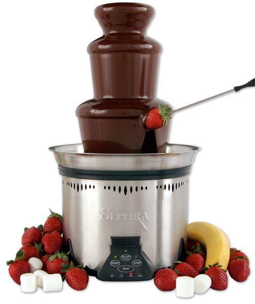 chocolade in de fontein