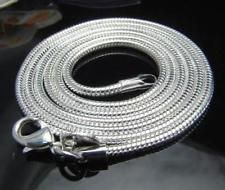 3MM Silver Plated Stainless steel Snake Chain Men Women Necklace For Charm 24''