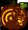 Pumpkin Carving Patterns and Stencils - Zombie Pumpkins! - Captain America pumpkin pattern - The Avengers (2012)