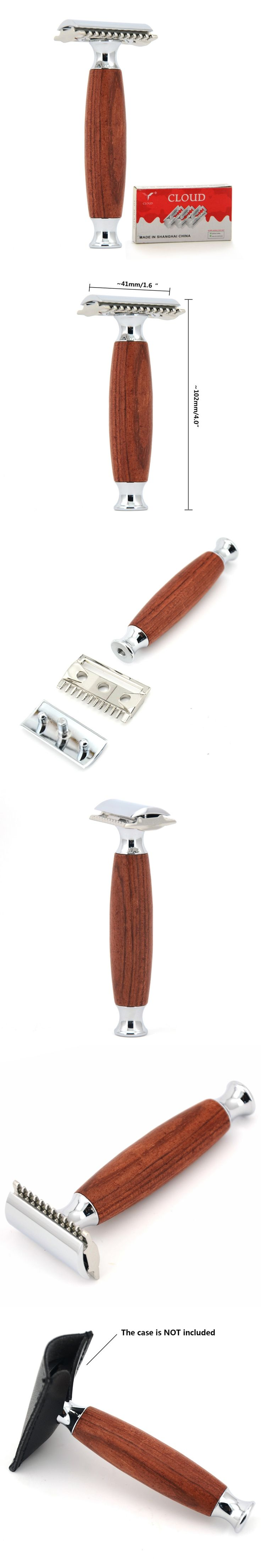 ZY Classic Men Double Edge Safety Blade Shaving Razor Shave Beard Adjustable Knife Second Generation Comb Head + FREE 10 Blades