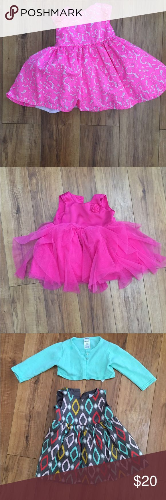 Baby Girl Dress Lot 0-3 Months Carter dresses. All worn no more than a few times and for pictures only in some cases. Carter's Dresses Formal