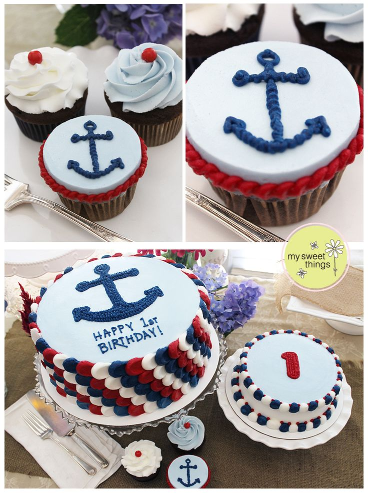 Cake Decorating Store Troy Mi : Best 25+ Nautical cupcake ideas on Pinterest Sailor party, Sailor cake and Nautical theme cupcakes