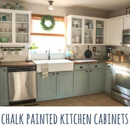 Chalk Painted Kitchen Cabinets — Two Years Later
