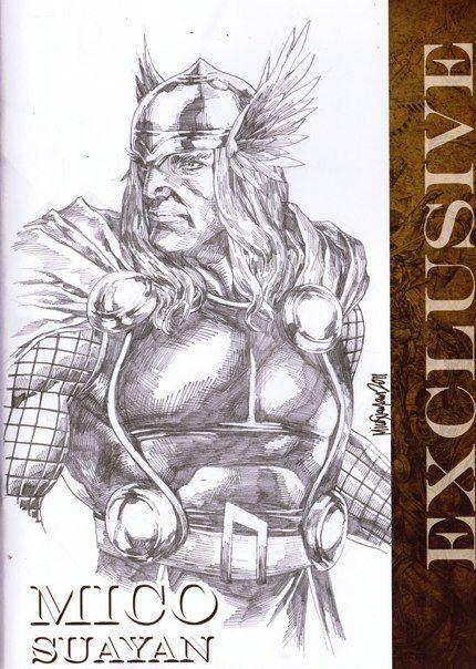 Mico Suayan - Thor  Sketch Comic Art