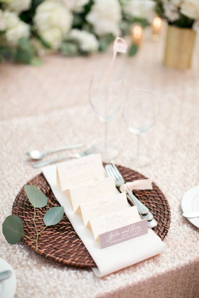 Fold up menu: http://www.stylemepretty.com/collection/2127/