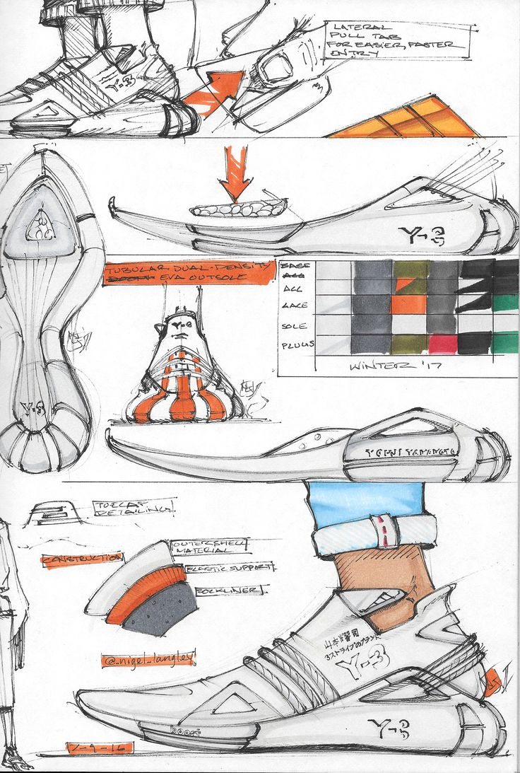 Sneaker Sketches and Renderings on Behance