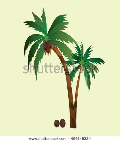 Coconut trees design vector 4. Vector illustration. Coconut tree icon
