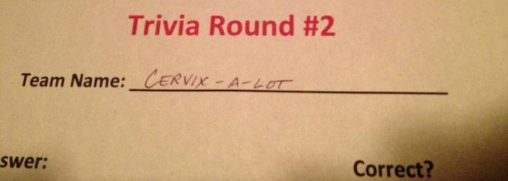 Picking a funny trivia team name can often make or break a trivia night because, let's face it, this may be your only chance at a win for the night. Crafting a quiz team name that's equal parts offensive, hilarious, and topical is an art form and there are some teams that are awful at it; these are...