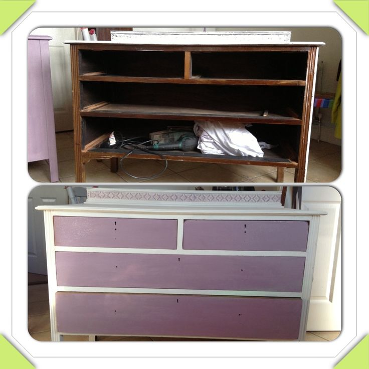 Old chest of drawers reloved :) Annie sloan chalkpaint and glitter glaze