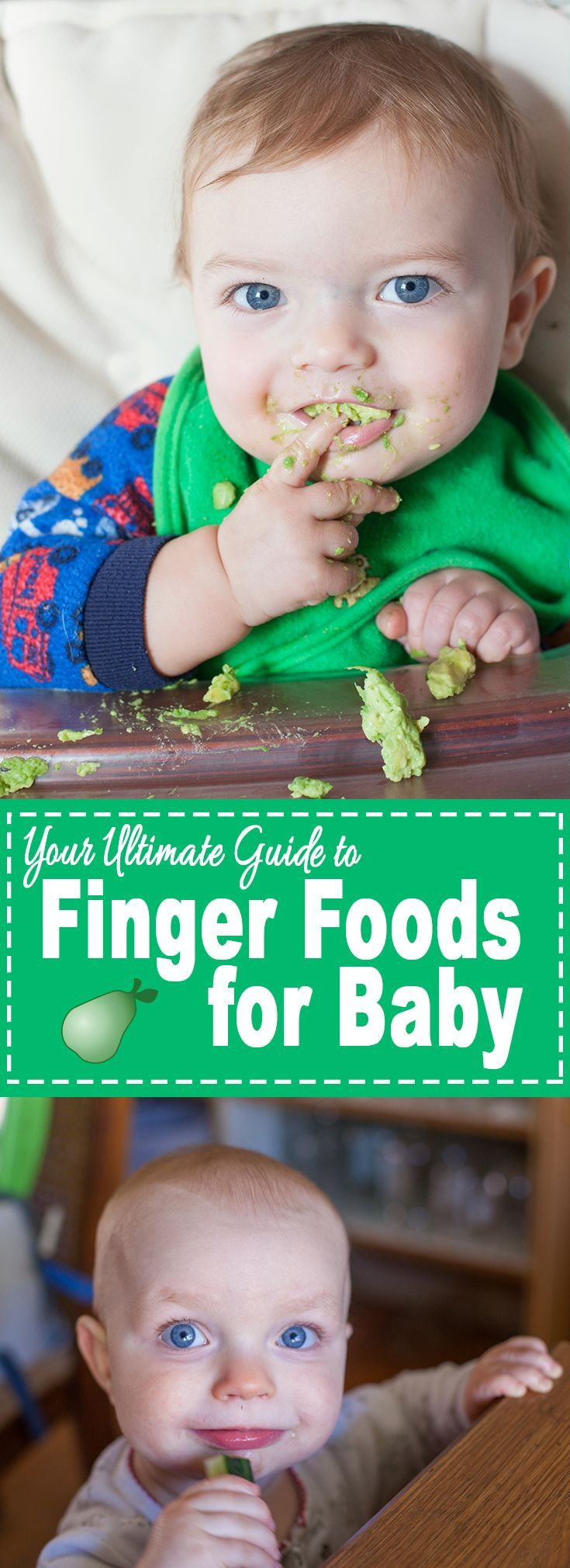 The best finger foods for baby are most likely already in your fridge or pantry! Here's our top baby finger food recommendations plus gear and safety tips. From http://EatingRichly.com