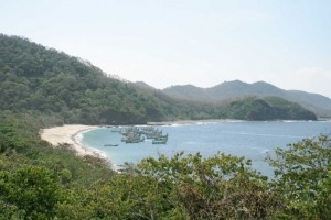 The Beautiful Papuma Beach at Jember, Indonesia