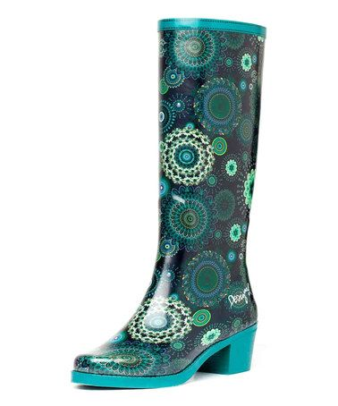 Look what I found on #zulily! Blue Ibiz Rain Boot - Women by Desigual #zulilyfinds