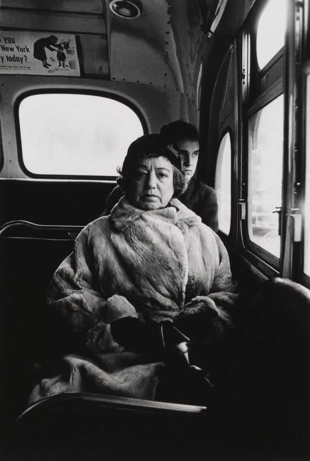 Diane Arbus - Lady on a bus, N.Y.C. 1957