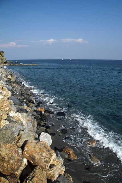 Varazze, Liguria, Italy, province if Savona ... beautiful coastline!