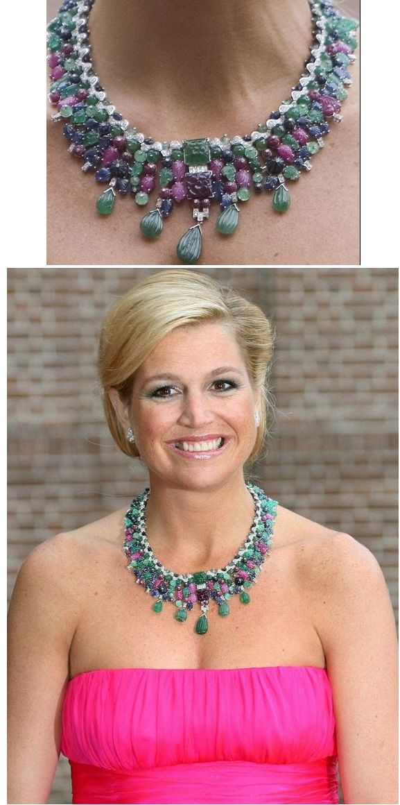 Queen Maxima's Tutti Fruiti necklace. I love a bit of tutti frutti!