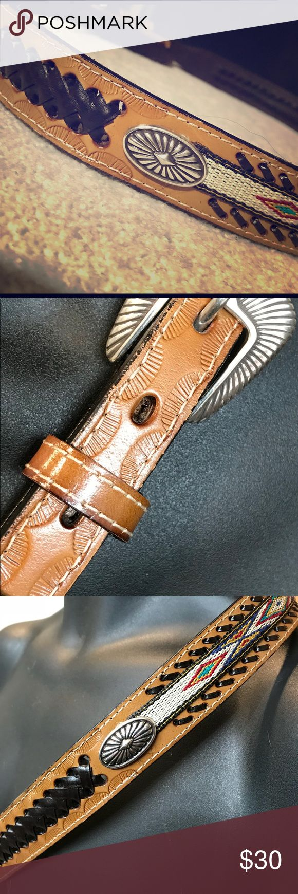 """Cowgirl Western Leather Belt Cowgirl up! Genuine leather western style belt with silver buckle. 43"""" long & 1"""" wide in never-worn, like-new condition. Accessories Belts"""