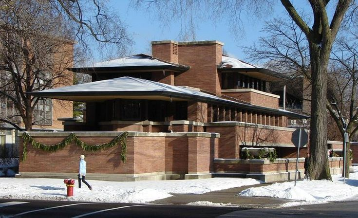 The Frederic C. Robie House, designed by Frank Lloyd Wright, 1909.