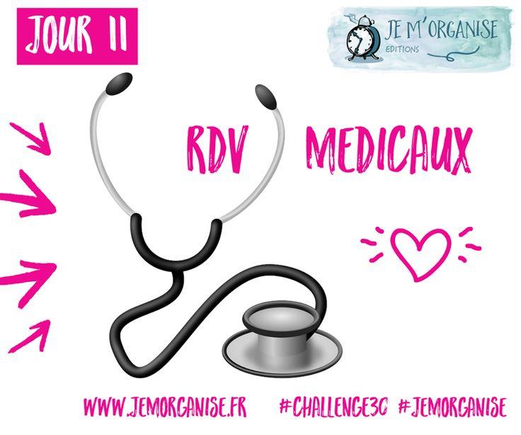 JOUR 11 Un petit point sur les suivis médicaux... #Challenge30 #JMO #jemorganise #organisation #medecin #visitemedicale #dentiste #generaliste #pediatre #ophtalmo #dermato #osteo #kine #bienetre #sante #prevention  #30DAY