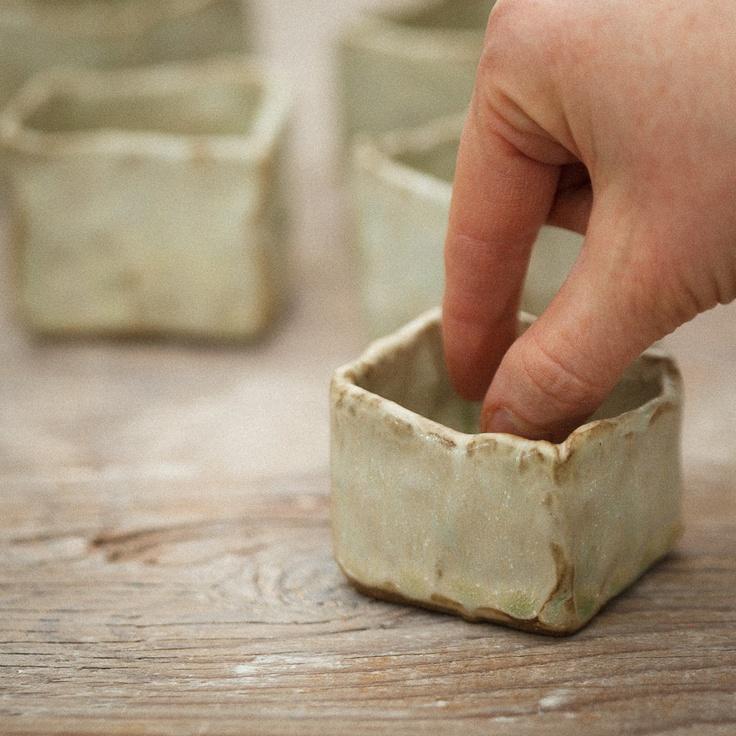 Mini Ceramic Box Salt Cellar by karanote on Etsy