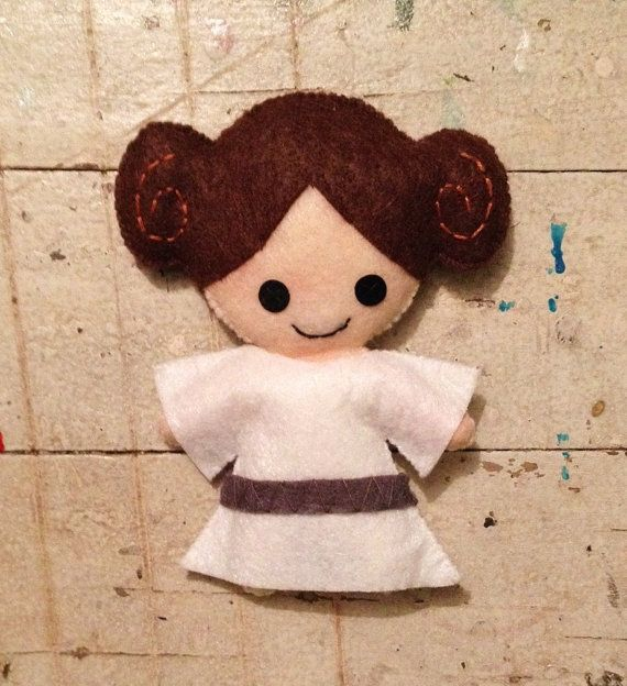 Princess Leia Star Wars Felt Plushie by sinnabunnycrafts on Etsy, $30.00
