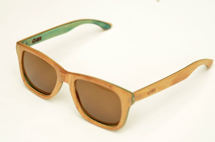 Hand made sunglasses, recycled from a toy machine skateboard. by U-FIT/ARGENTINA