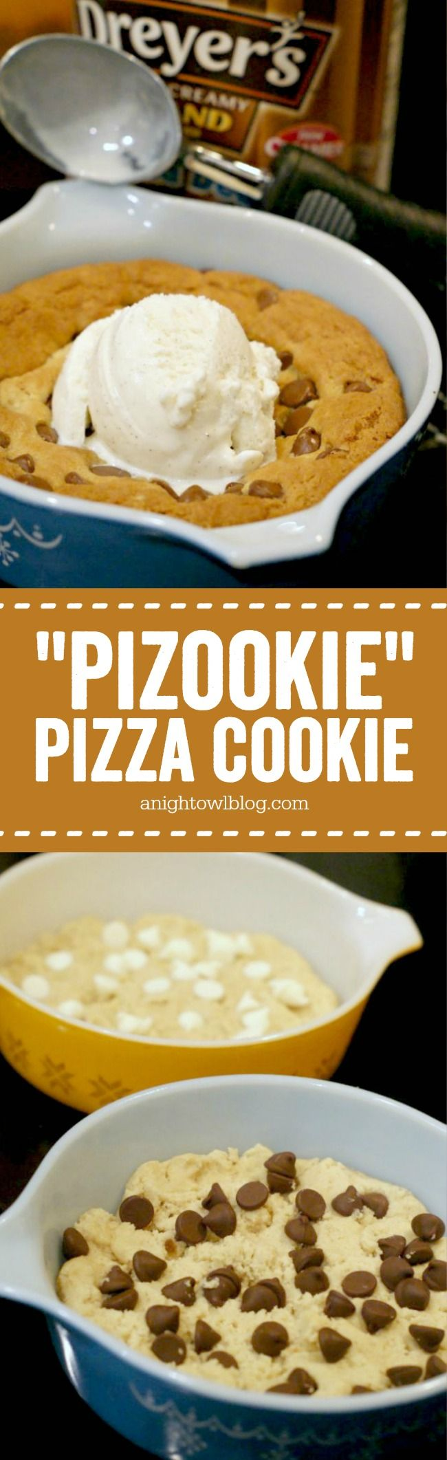 """Learn how to make your own BJ's or Oregano's """"Pizookie"""" Pizza Cookie at home!"""