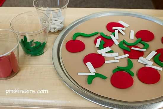 Craft foam pizza for dramatic play pizza shop