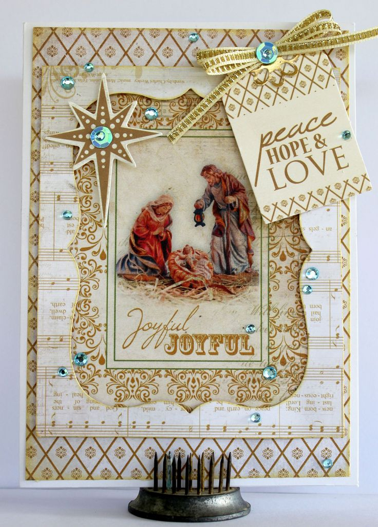 Joyful Christmas Card - Kaisercraft Holy Night - Scrapbook.com