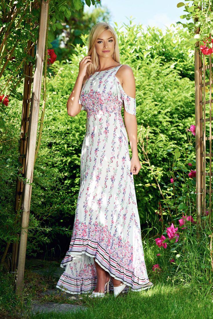 Comanda online, Rochie StarShinerS Cheerful White. Articole masurate, calitate garantata!
