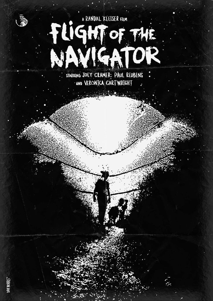Flight of the Navigator (1986) ~ Minimal Movie Poster by Daniel Norris #amusementphile