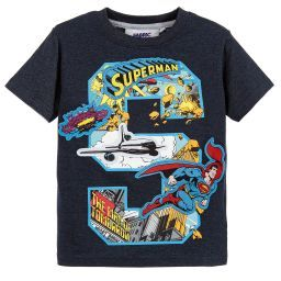 Fabric Flavours - Blue Superman T-Shirt | Childrensalon