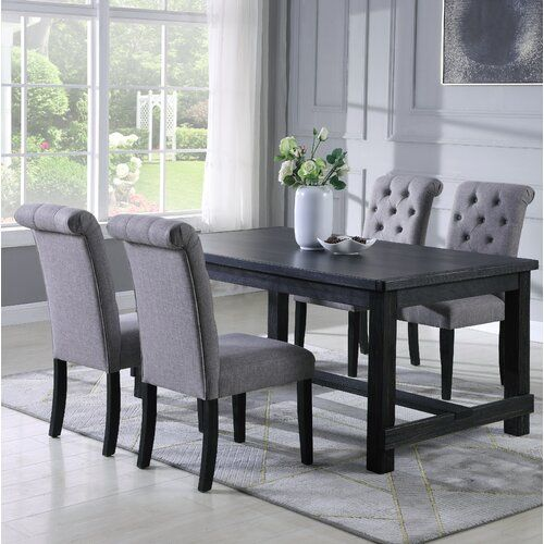 Charlton Home Evelin 5 Piece Dining Set Wayfair Parsons Dining Chairs Dining Room Sets Home