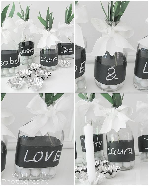 Chalk Board Vase