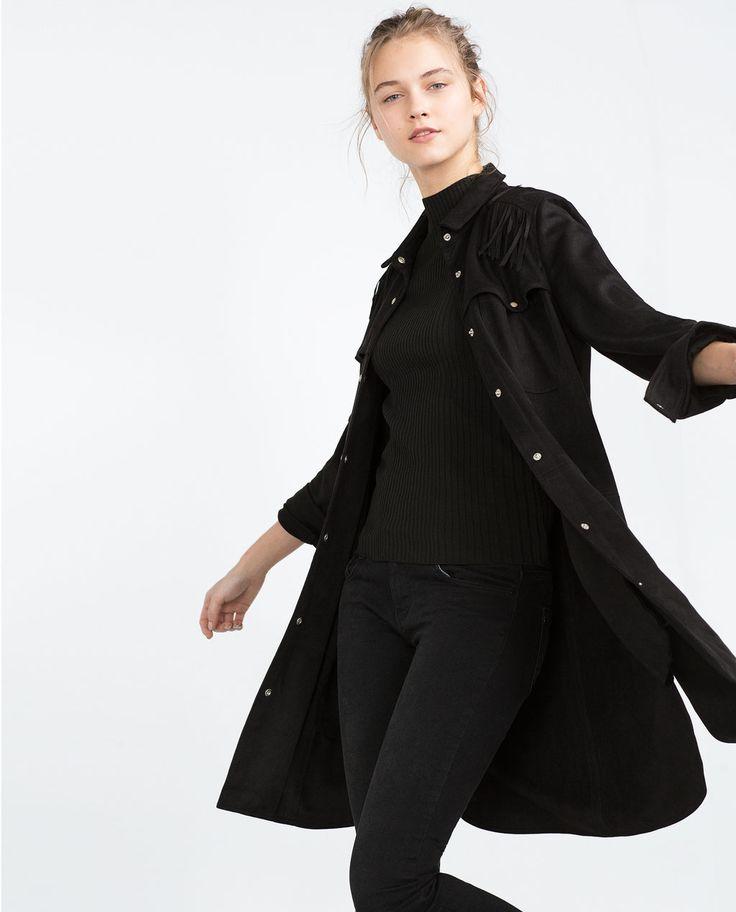 Image 1 of FRINGED OVERSHIRT from Zara
