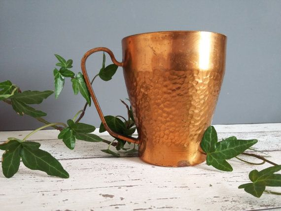 Vintage Hammered Copper Mug // Moscow Mule Cup