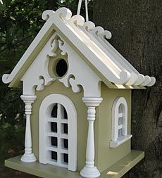 Fairy Cottage  Bird House I used to collect fancy bird houses at our house In Mississippi we had space over our kitchen cabinets and I put them up there now they are just all up in my attic. I have the whistlestop cafe from the movie fried green tomatoes and sev other cool ones. I always look for neat unusual ones to add to my collection