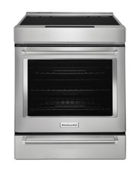 Kitchen Aid 30-Inch 4-Element Induction $3149 Slide-In Convection Range with Baking Drawer KSIB900ESS
