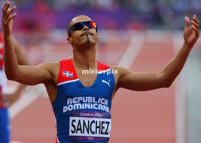 Felix Verdejo Sanchez from the Dominican Republic in the 400m HurdlesFelix Sanchez of the Dominican Republic pictured after winning the gold medal in the Men 400m Hurdles Final on Day 10 of the London 2012 Olympic Games at the Olympic Stadium on August 06, 2012 in London, England.